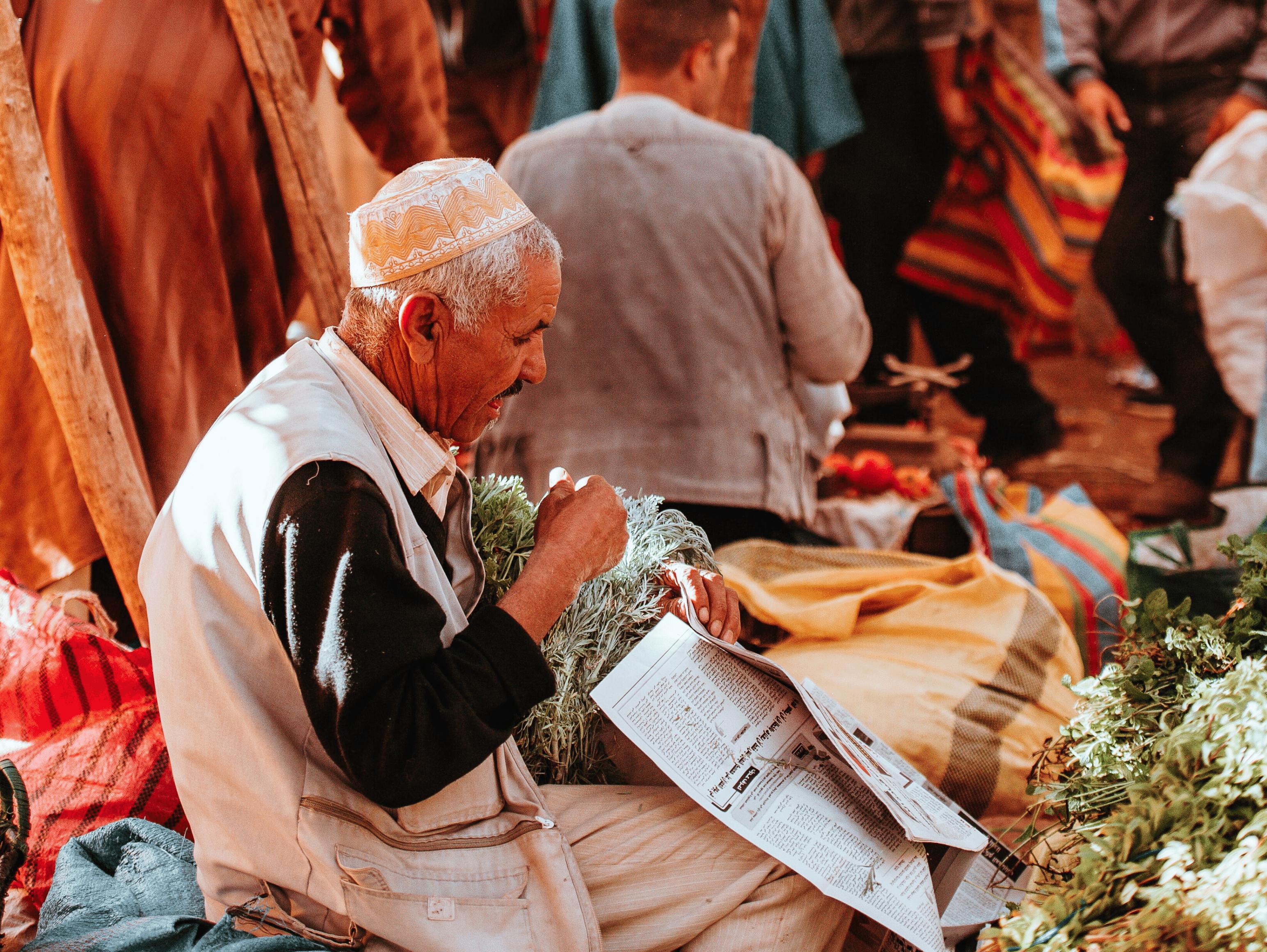 Man in local markets