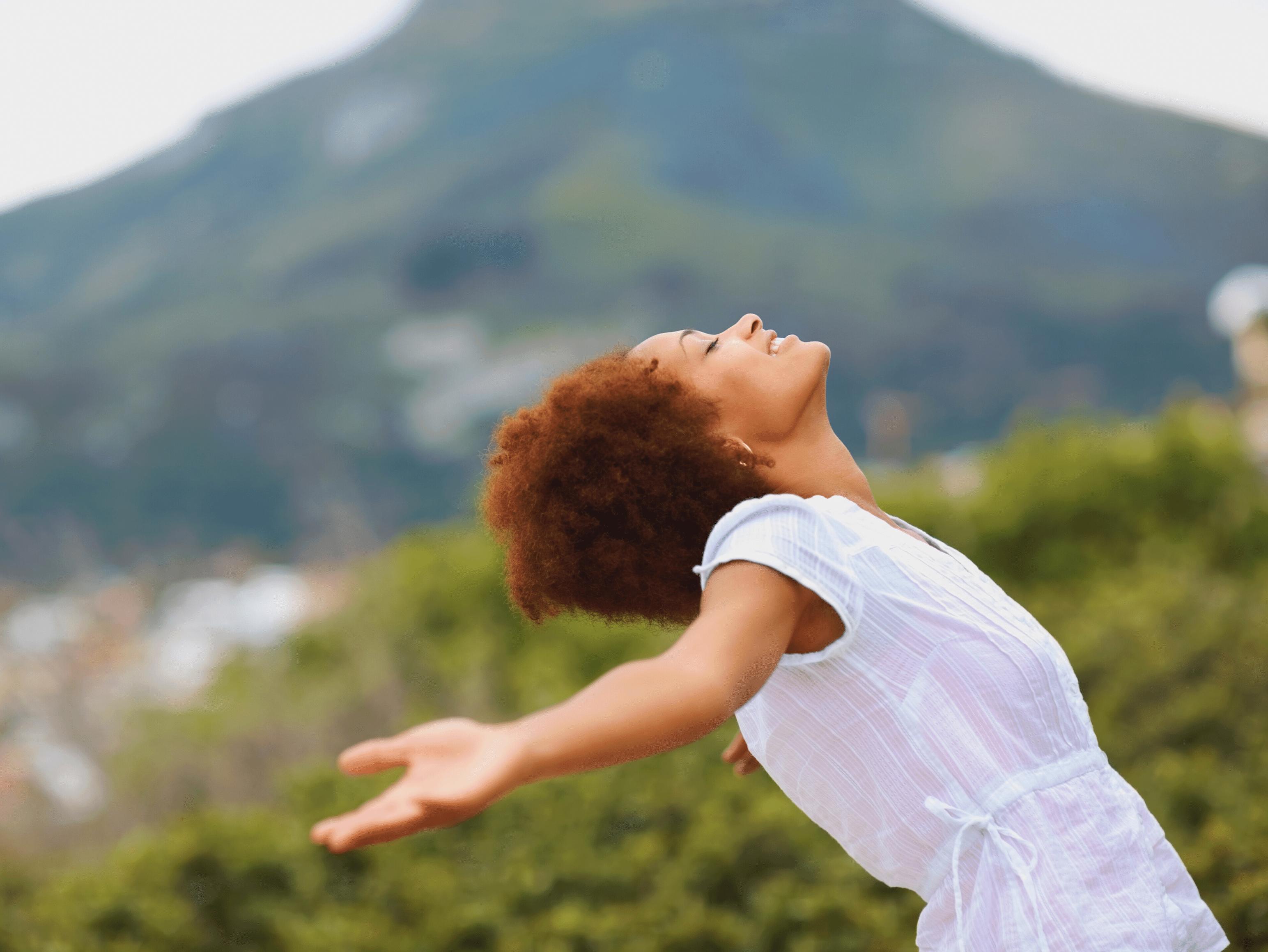 Blog header of woman outdoors