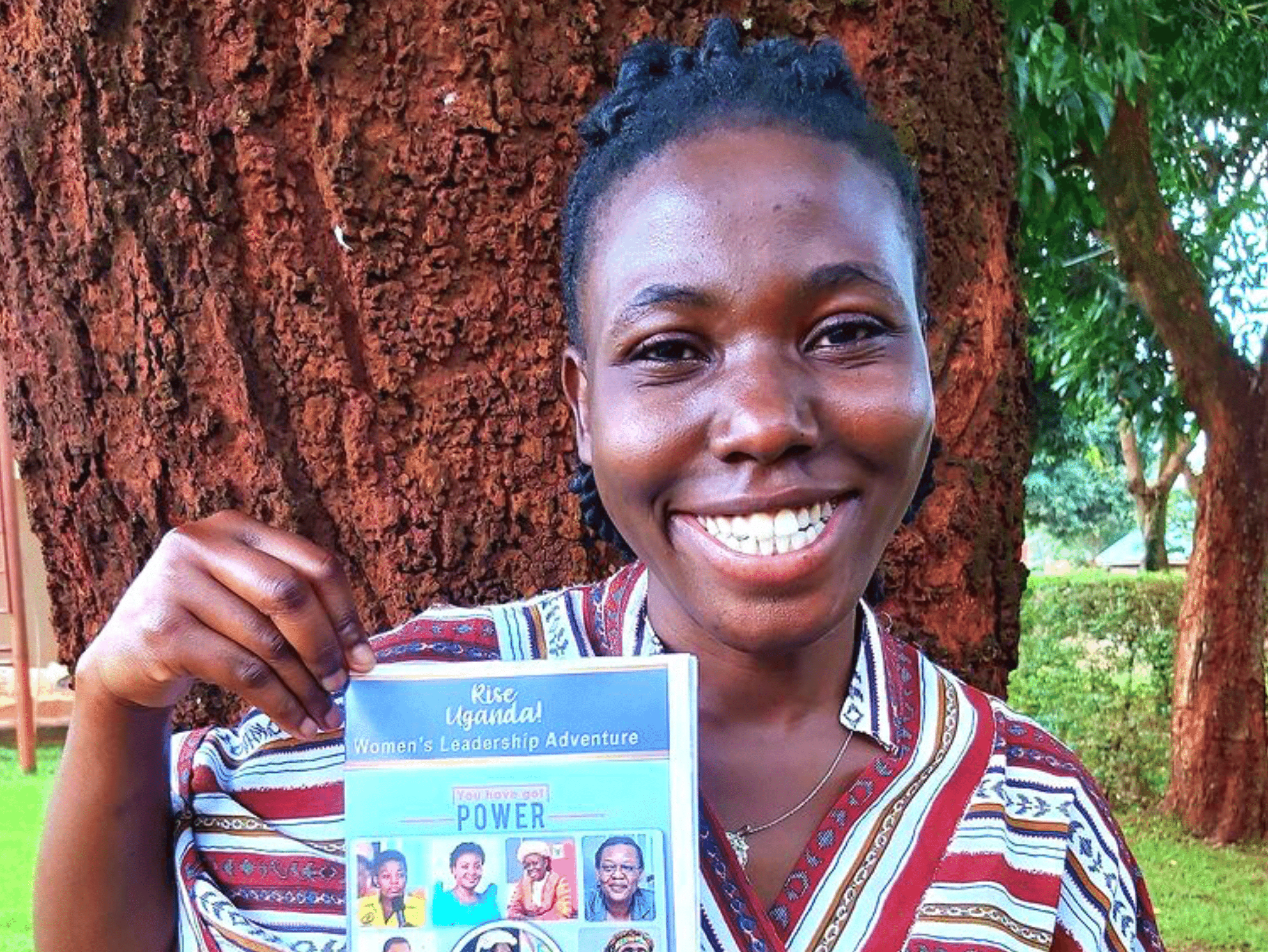Ugandan Woman holding flyer